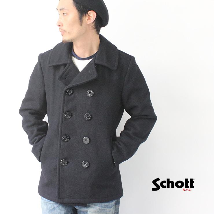 ショット SCHOTT 753US PEA COAT ピーコート 24oz メンズ 秋冬 38サイズ/40サイズ