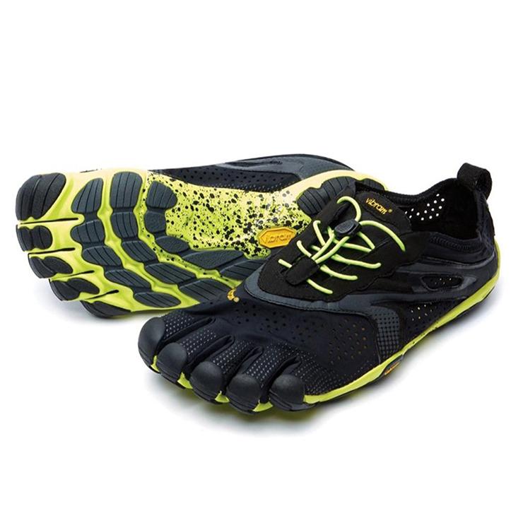 低価格 vibram five fingers ビブラム ファイブフィンガーズ V-Run 16M3101 Black/Yellow メンズ, こだわり商事 36512823