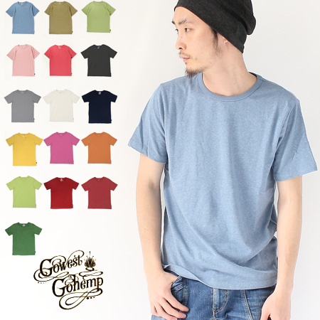 e1e5b52837dc Hemp t shirts mens GOHEMP ( sleeve ) organic cotton Basic T shirt short  sleeve 4200rg12 ...