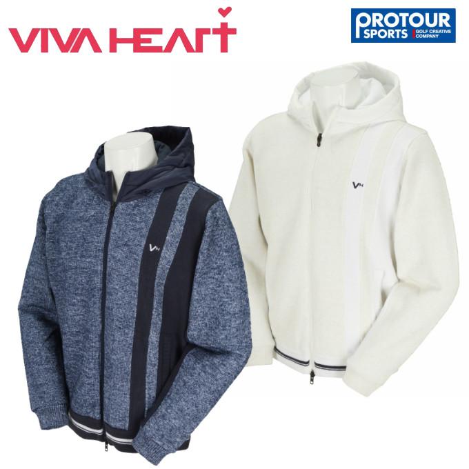 VIVA HEART ビバハート フーデットニットブルゾン 011-58112