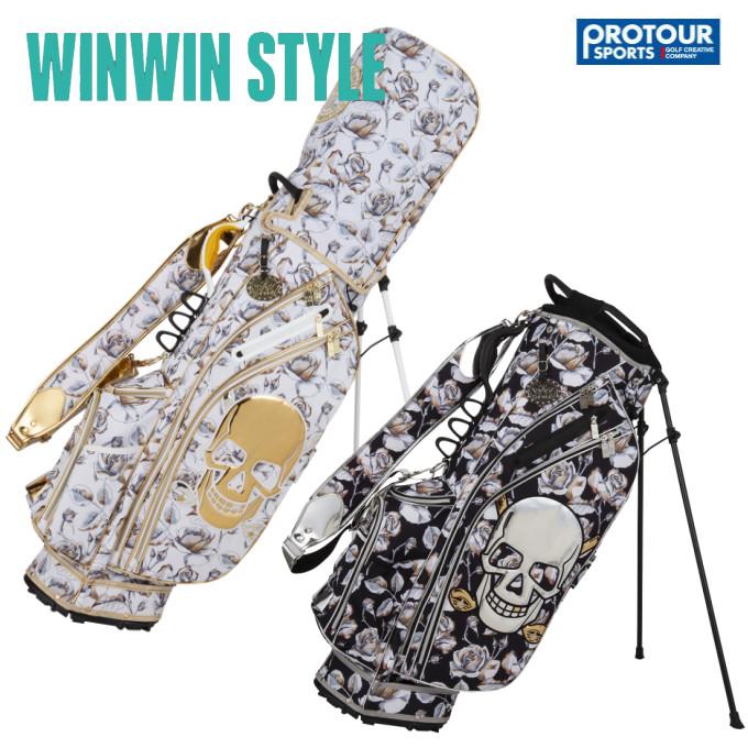 WINWIN STYLE ウィンウィンスタイル ヤンチャスカル ローズ スタンド キャディバッグ CB-923/CB-924