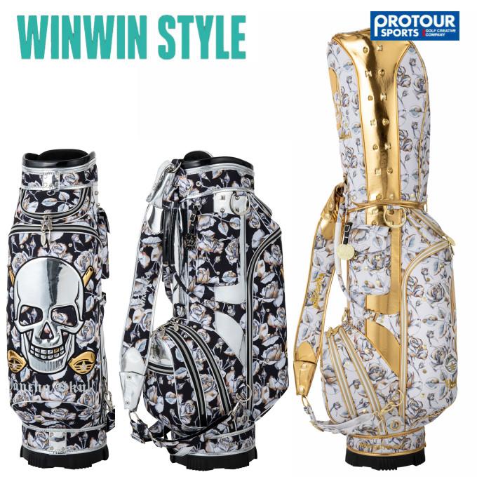 WINWIN STYLE ウィンウィンスタイル ヤンチャスカルローズ キャディバッグ CB-356/CB-357