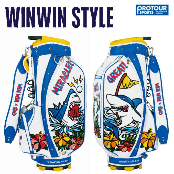 WINWIN STYLE ウィンウィンスタイル アロハ シャーク キャディバッグ CB-654