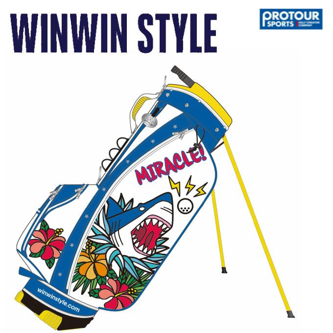 WINWIN STYLE ウィンウィンスタイル アロハ シャーク スタンド キャディバッグ CB-653
