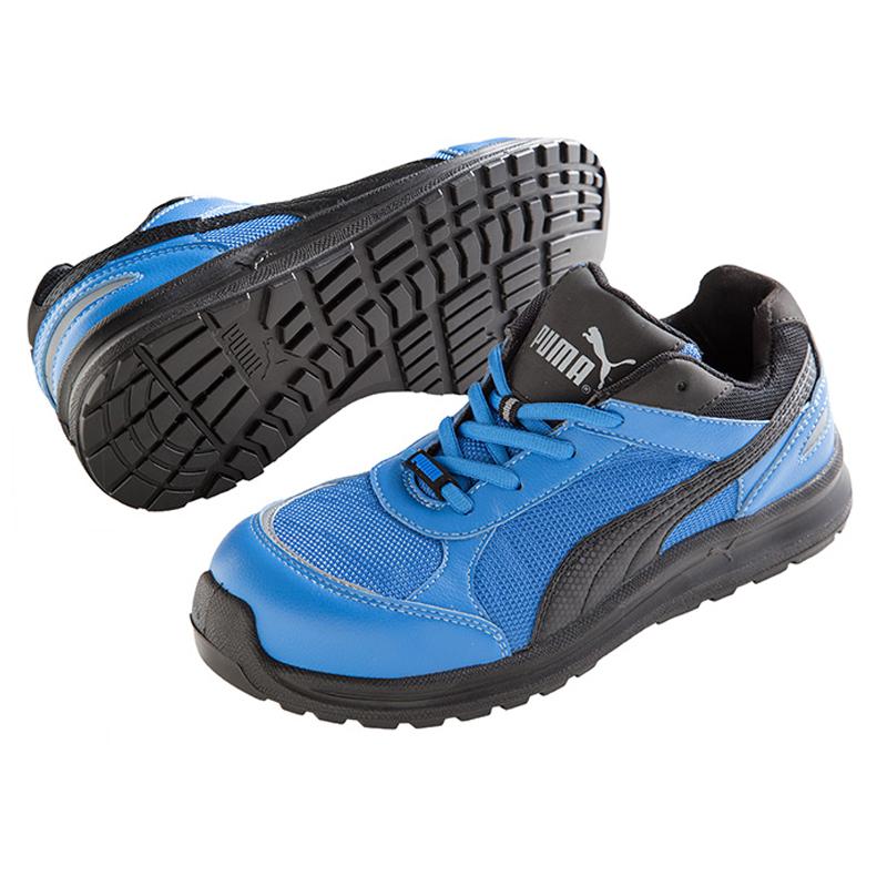 【送料無料(※北海道沖縄離島除く)】 PUMA プーマ Sprint 青 Low スプリント・ブルー・ロー セーフティスニーカー 安全靴 レースアップ メンズ靴 作業用品 JSAA A種 日本モデル【メーカー在庫確認・お取り寄せ品】