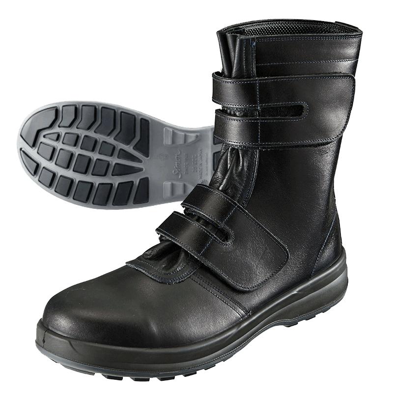 【送料無料(※北海道沖縄離島除く)】シモン Simon 8538 安全靴 ブーツ 長靴 安全作業靴 高級モデル 牛革製 日本製 本革 マジック JIS T8101 S種 メンズ靴 作業用品【メーカー在庫確認・お取り寄せ品】