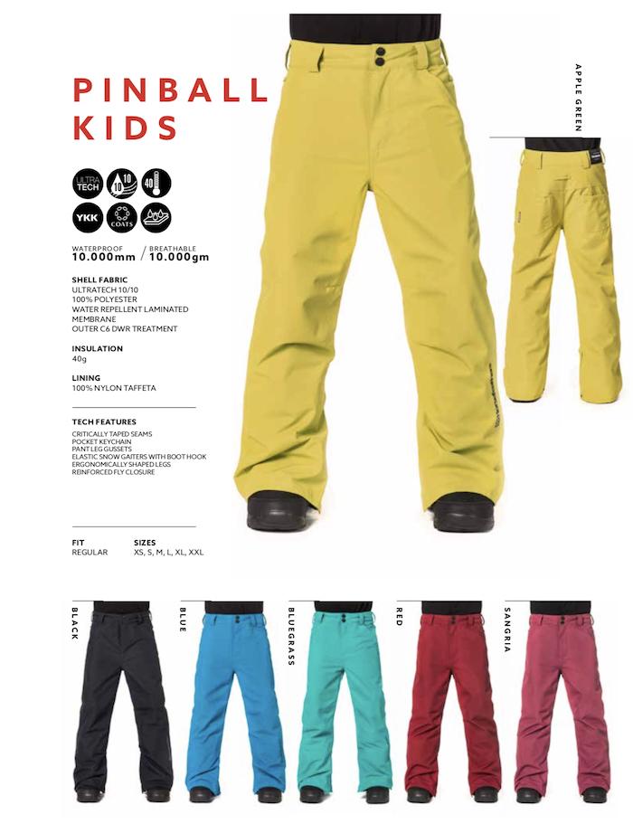 18 19 HorseFeathers PINBALL KIDS PANTS ホースフェザーズ スノーウェア パンツ スノーパンツ スノーボード Kids キッズ ジュニア キッズジャケット 小学生 入門 耐水 正規品
