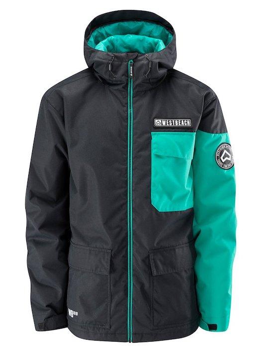 最安値!! 正規品 1819 WESTBEACH Bantam Jacket Black Sサイズ ウエストビーチ メンズ スノーウェア ジャケット スノーボードウェア 耐水 防水 暖かい