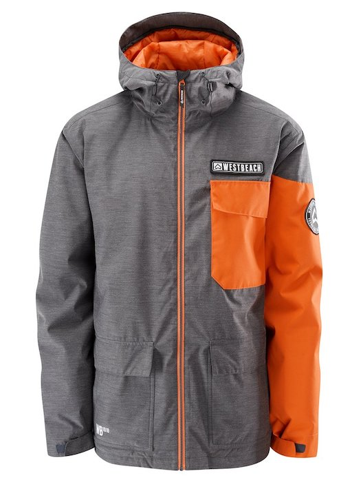 最安値!! 正規品 1819 WESTBEACH Bantam Jacket Charcal Mari Lサイズ ウエストビーチ メンズ スノーウェア ジャケット スノーボードウェア 耐水 防水
