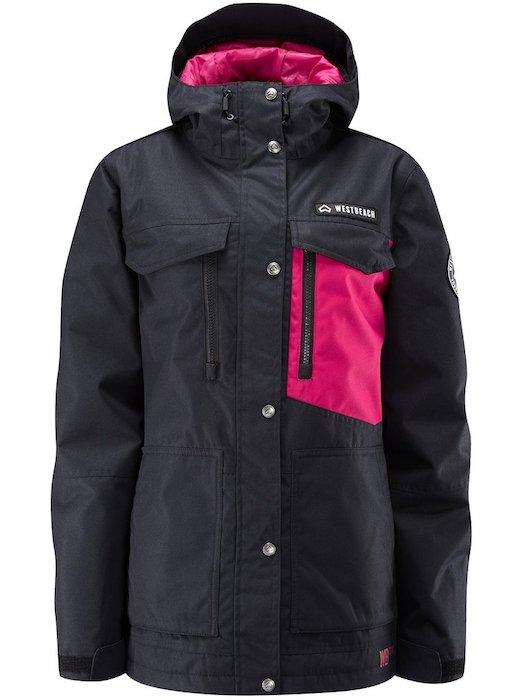 WESTBEACH Waltz Jacket Black Mサイズ ウエストビーチ レディース スノーウェア ジャケット スノーボードウェア 耐水 防水 暖かい 女性