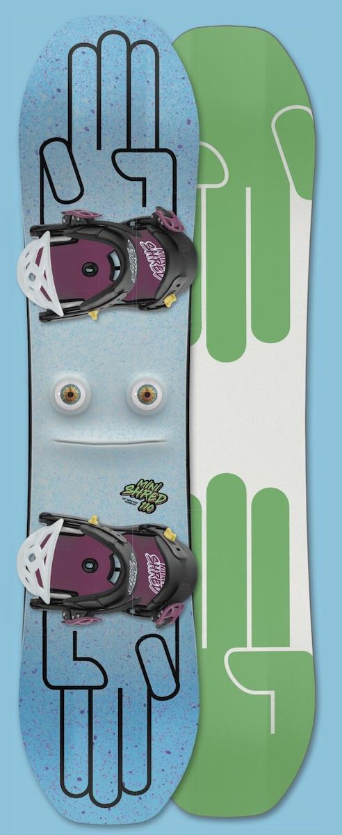 BATALEON Minishred バタレオン 逆エッジ軽減ソール構造 キッズスノーボード ジュニアスノーボード 小学生 未就学児 バインディング付 金具付