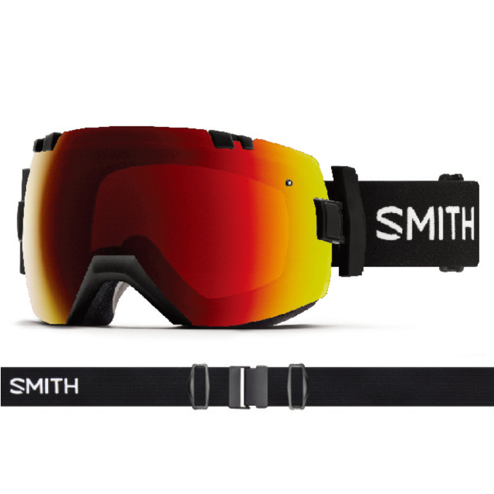 New!! 18 19 SMITH I/OX BLACK スミス アイオーエックス ブラック クロマポップ ゴーグル スペアレンズ付き スキー スノーボード アジアンフィット 正規