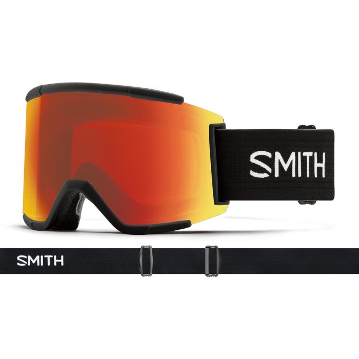 New!! 人気 18 19 SMITH SquadXL BLACK スミス スカッドエックスエル ブラック クロマポップ ゴーグル スキー スノーボード アジアンフィット 正規品
