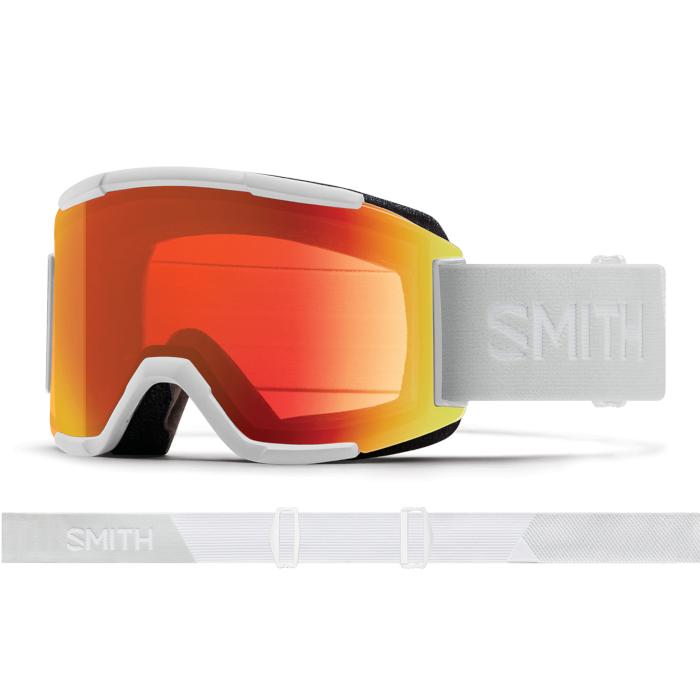 New!! 人気 18 19 SMITH Squad WHITE VAPOR スミス スカッド クロマポップ ゴーグル スキー スノーボード アジアンフィット 正規品