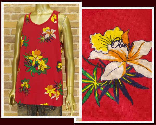 OBEY オベイ ALOHA ファッション通販 アイテム勢ぞろい TANK アロハ メンズ フラワー タンクトップ 134050012A