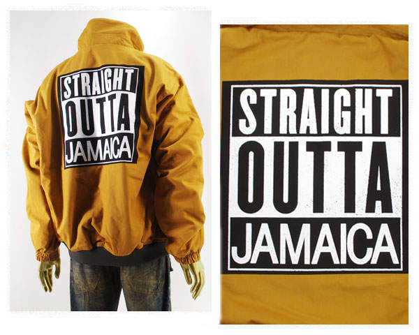 ALPHA PLUS アルフアプラス コラボ用アイコンのドラゴン NWA JAMAICA 中綿ジャケット メンズ 【51JK02 NWA JAMAICA】