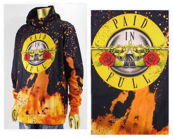 HUDSON ハドソン Guns N Roses ガンズ アンド ローゼズ モチーフ ポリエステルブリーチ プルパーカー メンズ 【H5051072ガンズ】