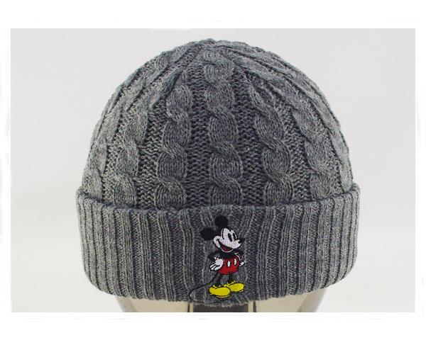 人気 おすすめ DISNEY ディズニー ミッキーマウス ニットキャップ メンズ オンラインショップ 6パネル 168-132-303ミッキー KNIT CAP アジャスター