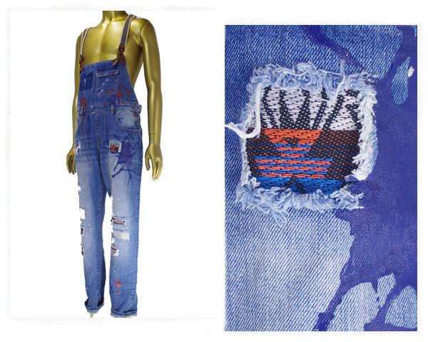 REASON CLOTHING リーズン クロージンク ビッグサイズ 対応 ニューヨーク発 MIXER OVERALLS - BLUE リペア オーバーオール デニムパンツ メンズ 【81-20クラッシュ】
