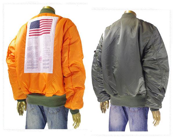 ALPHA INDUSTRIES アルファインダストリーズ BLOOD CHIT(兵士の身分を証明、保護を求める文) MA-1 フライトジャケット メンズ 【TA0129 003 MA1】