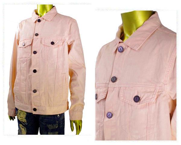 REASON CLOTHING リーズン クロージンク ビッグサイズ 対応 ニューヨーク発のブランド Gジャン デニムジャケット メンズ 【Q8-11R クラッシュPI】