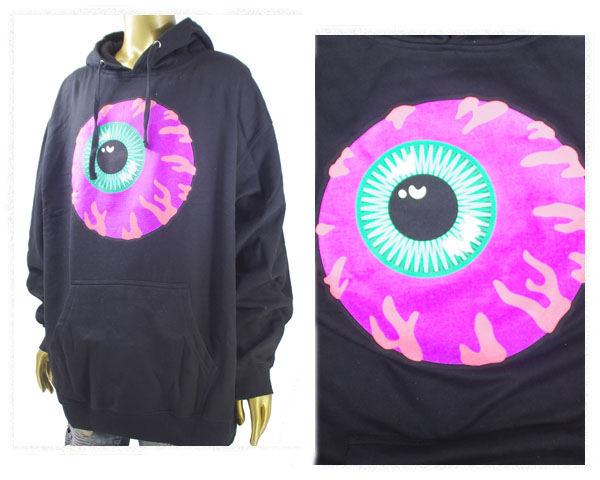 MISHKA ミシカ ビッグサイズ対応 フロントのKEEP WATCHを鮮やかなネオンカラーでデザイン スウェット プルパーカー メンズ 【FL171121 WATCH】