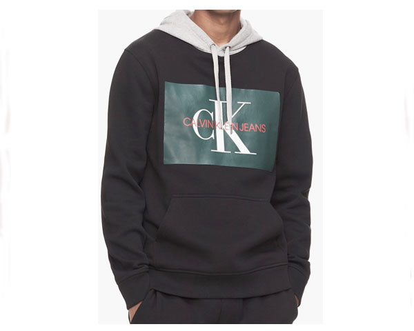 CALVIN KLEIN カルバンクライン Monogram Logo Hoodie Created 切替し2TONE スウェット プルパーカー メンズ 【LOGO HOODIE】