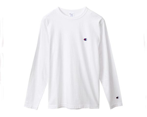 【CHAMPION】【チャンピオン】【BASIC バインダーネック仕様 ガーメントウォッシュ 加工 ロング Tシャツ L/S】【メンズ】 CHAMPION チャンピオン BASIC バインダーネック仕様 ガーメントウォッシュ 加工 ロング Tシャツ L/S メンズ 【C3-P401 010 JAP】