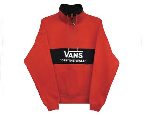 VANS バンズ COLOR BLOCK HALF ZIP SWEAT カラーブロック ハーフジップ スウェットジャケット メンズ 【VA19FW-MC11 ANO】