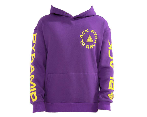 BLACK PYRAMID ブラックピラミッド Chris Brown(クリスブラウン)プロデュース Total Coverage Logo Hoody スウェット プル パーカー メンズ 【Y5162209 イエロー】