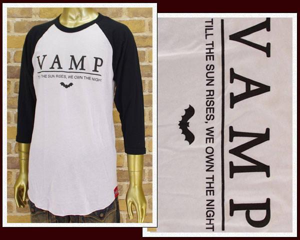 VAMPIRE LIFE ヴァンパイアライフ 七分袖ラグランTシャツ メンズ 【BB-11 BK】【あす楽対応】:アルファプラス@ALPHA PLUS