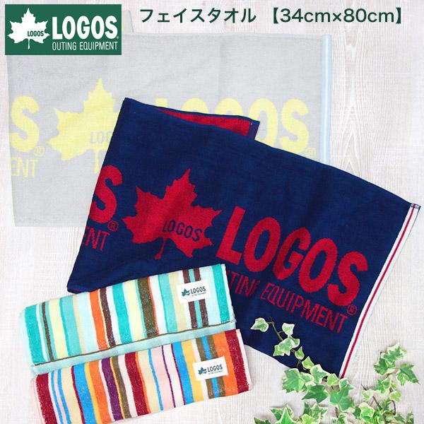 【期間限定セール】【メール便(ゆうパケット)OK】LOGOS ジャカード フェイスタオル 綿100% ロゴス【お薦め】《約34cm×80cm》