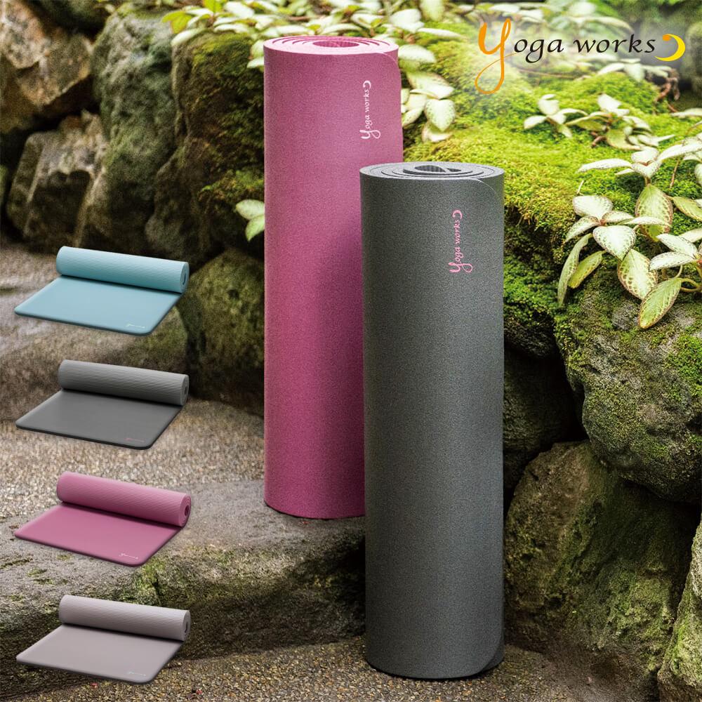 新色追加 ヨガワークス ヨガマット ピラティスマット 12mm yogaworks ピラティス マット works ヨガ 本日限定 yoga