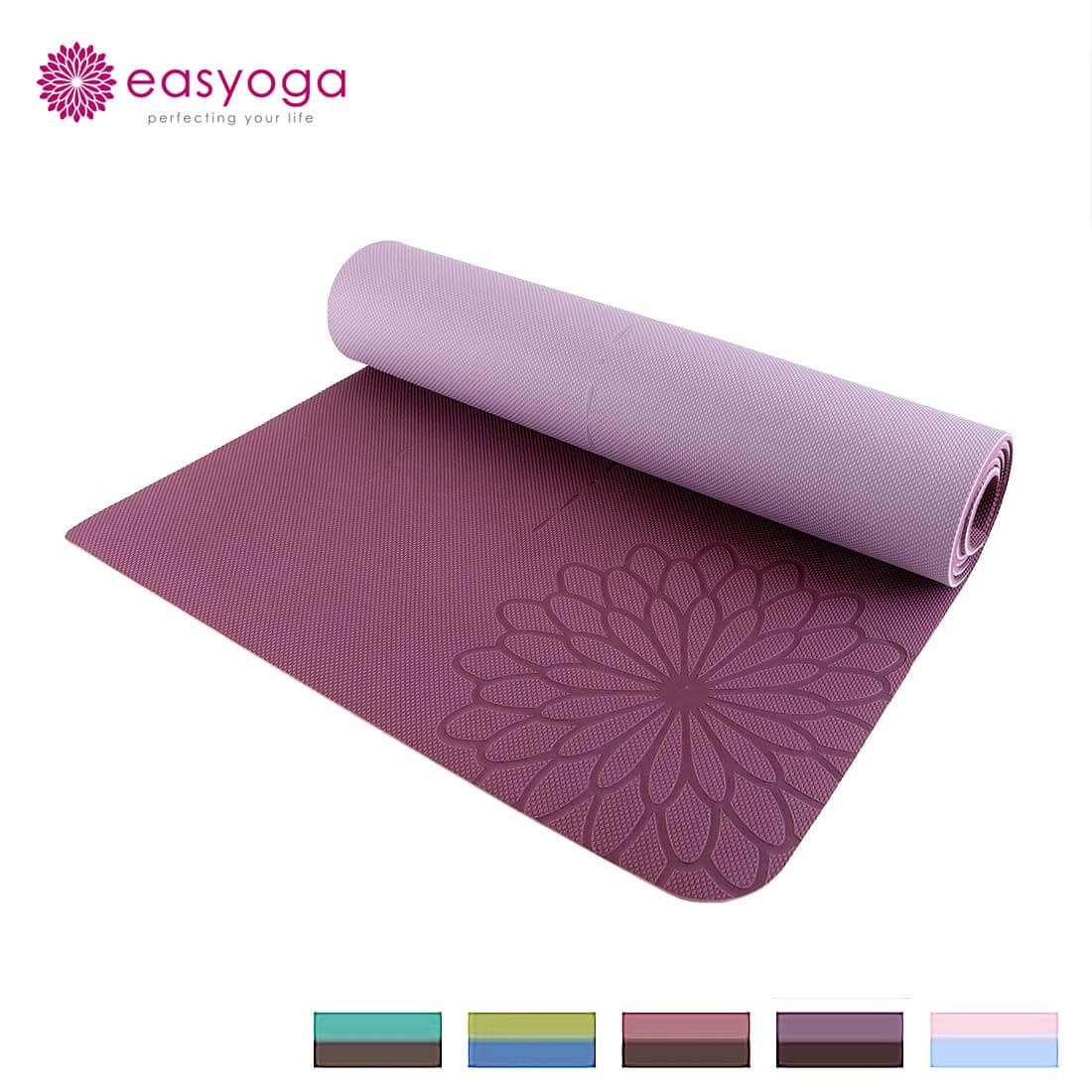 easyoga イージーヨガ エコ ダブルフェイスヨガマット 5mm厚 リバーシブル ヨガマット 送料無料 即納 easy yoga