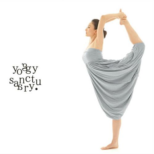 ヨギーサンクチュアリ エアリー ジニーパンツ ヨガウェア ヨガパンツ オールインワン レディース ヨガ ピラティス ウェア ginei pants かわいい yoggy sanctuary