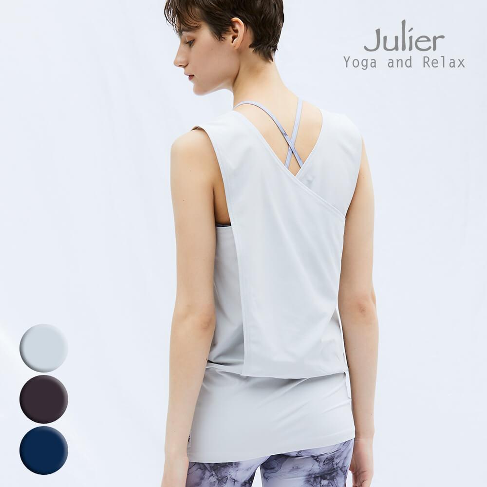 【julier/ジュリエ】 ヨガウェア トップス バッククロスチュニック ジュリエ jub-012