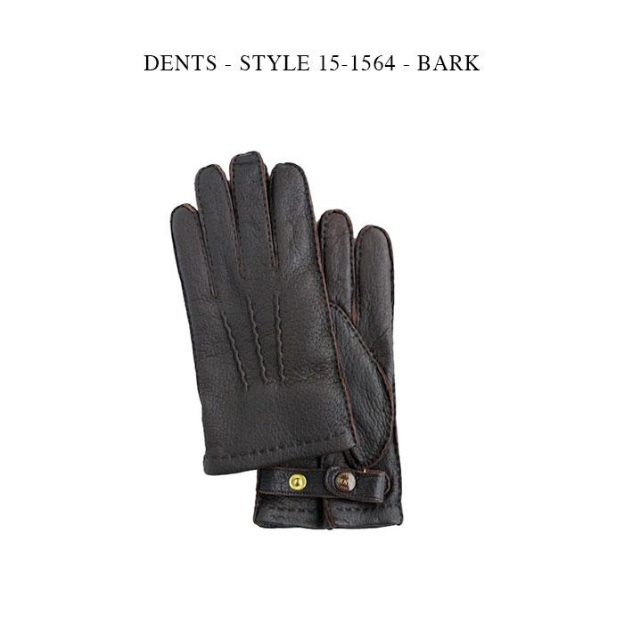 DENTS - STYLE 15-1564 - BARK【国内正規】 デンツ バーク ペッカリー革 カシミア グローブ 手袋 ブラウン
