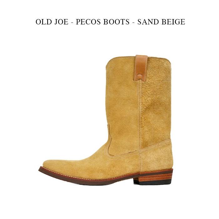 OLD JOE - PECOS BOOTS - SAND BEIGE オールドジョー《OJ-PB ペコスブーツ 》サンドベージュ