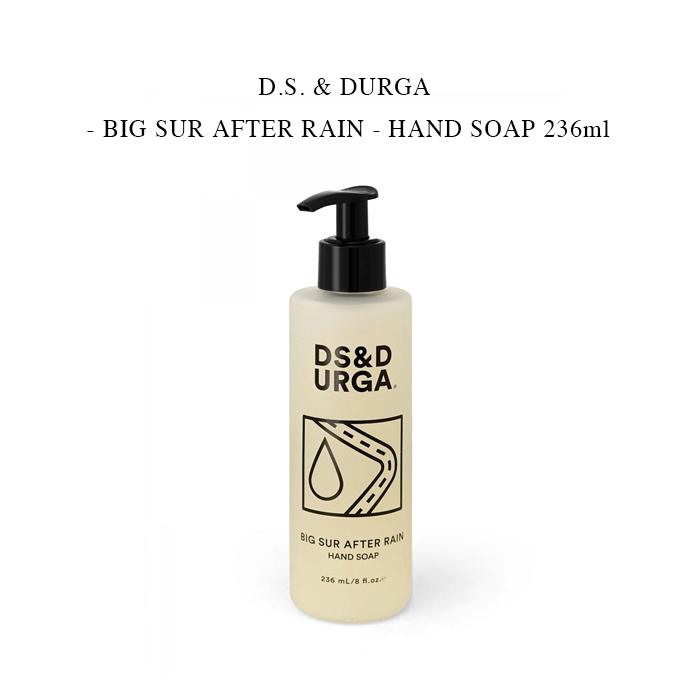 若葉 雨上がりの草梅雨の香り 送料込 D.S. DURGA - BIG SUR 希望者のみラッピング無料 AFTER 上質 RAIN HAND 236ml ディーエスアンドダーガ SOAP ハンドソープ ビックサーアフターレイン 国内正規