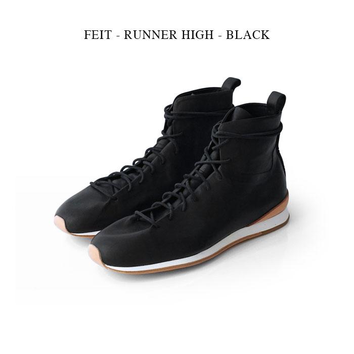 FEIT - RUNNER HIGH - BLACK【国内正規】ファイト フェイト《ランナーハイ》ブラック カンガルーレザー