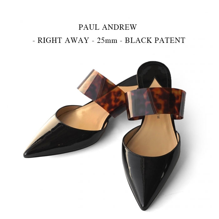 PAUL ANDREWRIGHT AWAY25mmBLACK PATENT 国内正規 ポールアンドリュー ブラック フォーマルnOvN0wPym8