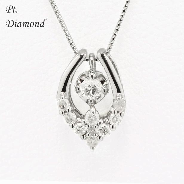 【ダイヤ プラチナ ネックレス 可愛い おしゃれプラチナダイヤ プチネックレス 0.21ct ダイヤモンドジュエリー プレゼント 誕生日 記念日 シンプル】