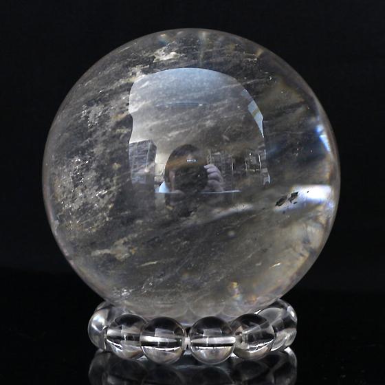 レインボーヒマラヤ水晶55mm球(天然石 パワーストーン 球体 水晶球) メール便不可