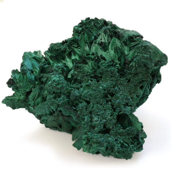 原石 マラカイト10(天然石 パワーストーン 孔雀石 結晶) メール便不可