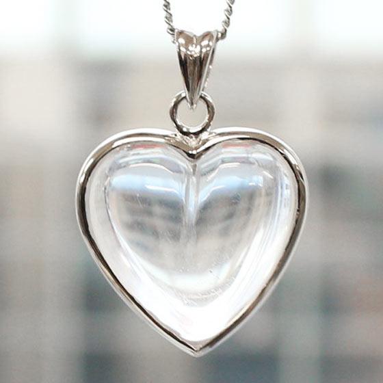 ヒマラヤ水晶ハート型SVトップペンダントBIG HEART(天然石 ネックレス パワーストーン HEART(天然石 ネックレス シルバー シルバー 刻印無し)メール便不可, シロネシ:57820703 --- officewill.xsrv.jp