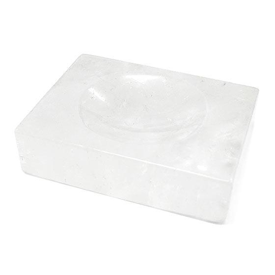 水晶台座・浄化皿(天然石 パワーストーン 置物 浄化プレート 水晶皿 丸玉) メール便不可