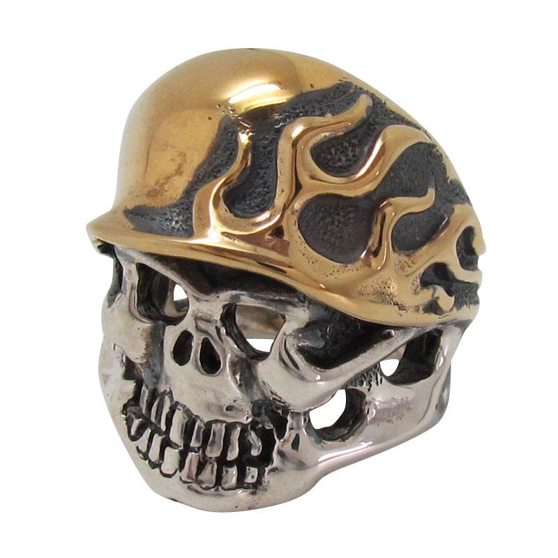 トラヴィスワーカー TRAVISWALKER リング ゴールドプレートフレームヘルメットスカルリング シルバー ジュエリー ブランド アクセサリー プレゼント ギフト 正規品 レディース メンズ