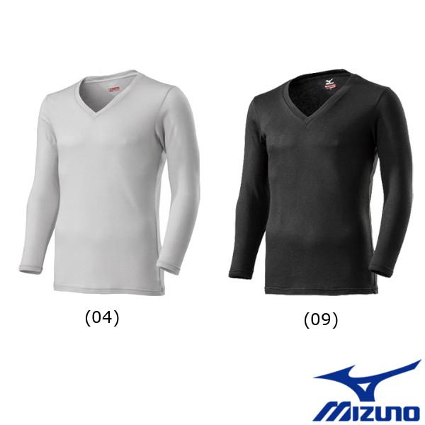 新色追加 ブレスサーモ アンダーウェア ミズノ メンズ MIZUNO 今だけ限定15%OFFクーポン発行中 C2JA9641 プラス Vネック長袖シャツ ブレスサーモアンダーウエア