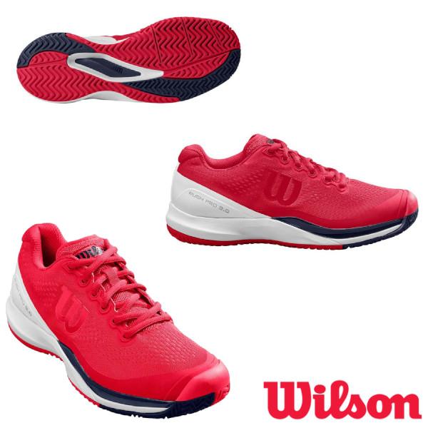 送料無料◆WILSON◆2020年2月発売◆RUSH PRO 3.0 AC レディース ラッシュ・プロ WRS326010U ウィルソン テニスシューズ オールコート用