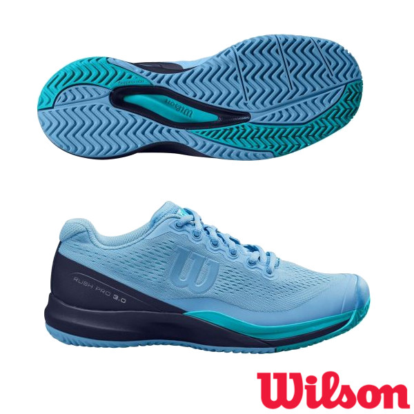 送料無料◆WILSON◆2020年5月発売◆RUSH PRO 3.0 AC レディース WRS326020 ウィルソン テニスシューズ オールコート用